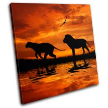 Lion African Sunset Animals - 13-1784(00B)-SG11-LO